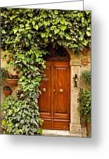 Tuscan Door Greeting Card