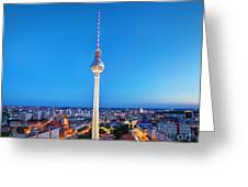 Tv Tower Or Fersehturm In Berlin Greeting Card