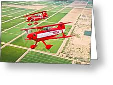 Two Pitts Special S-2a Aerobatic Greeting Card