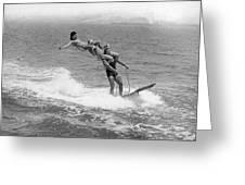Aquaplaning Trio Falls Greeting Card