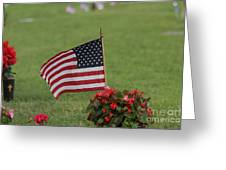Us Flag On Memorial Day Greeting Card