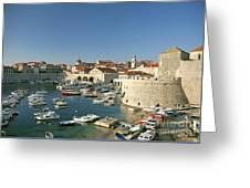 View Of Dubrovnik In Croatia Greeting Card