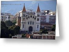 Views Of Messina Italy Greeting Card