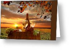 Vine Landscape In Chianti Italy Greeting Card