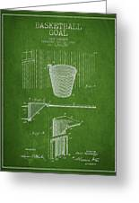 Vintage Basketball Goal Patent From 1925 Greeting Card