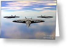 3 Viper F-32s Greeting Card