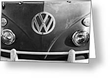 Volkswagen Vw Bus Front Emblem Greeting Card