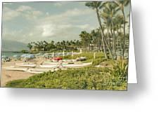 Wailea Beach Maui Hawaii Greeting Card by Sharon Mau
