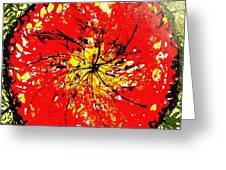 Wall Of Heavenly Flowers Greeting Card