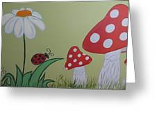 Wall Painting Greeting Card