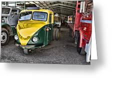 3 Wheeler Truck Greeting Card