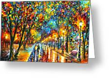 When Dreams Come True Greeting Card by Leonid Afremov