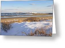 Winter At Popham Beach State Park Maine Greeting Card