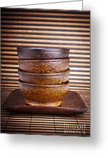 Wooden Bowls Greeting Card