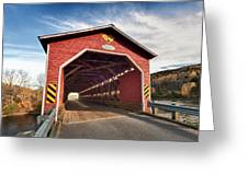 Wooden Covered Bridge  Greeting Card by Ulrich Schade