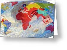 World Map And Barack Obama Stars Greeting Card
