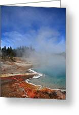 Yellowstone Park Geyser Greeting Card
