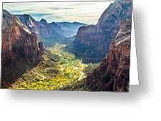 Zion National Park In Autumn Greeting Card