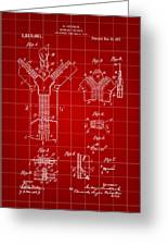 Zipper Patent 1914 - Red Greeting Card