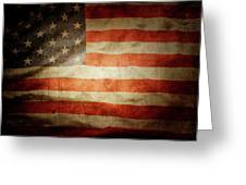 American Flag Rippled Greeting Card