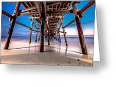 30 Seconds Under San Clemente Pier Greeting Card