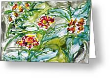 Zenmoksha Flowers Greeting Card