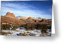 Capitol Reef National  Park Cathedral Valley Greeting Card by Mark Smith