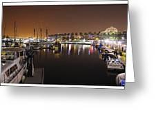 Long Beach Marina- California Greeting Card