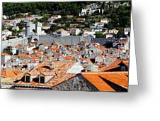 Views Of Dubrovnik Croatia Greeting Card