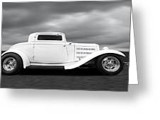 32 Ford Deuce Coupe In Black And White Greeting Card