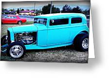 32 Ford Victoria Two Door Greeting Card