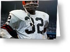 #32 Jim Brown Greeting Card