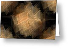 Seamless Background Fractal Greeting Card