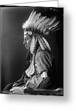 Sioux Native American, C1900 Greeting Card
