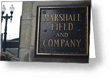 Marshall Field's Store Greeting Card