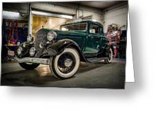 '33 Plymouth Greeting Card