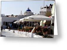Views Of Santorini Greece Greeting Card