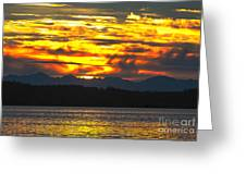 333 Marine Sunrise Greeting Card