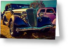 34 Ford Conv Greeting Card