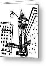 34th And Broadway Greeting Card