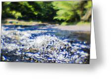 The Stream In Mountain Greeting Card