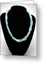 3584 Three Strand Twisted Shell Necklace Greeting Card