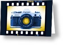 35mm Blues Canon Ae-1 Greeting Card