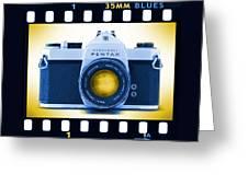35mm Blues Pentax Spotmatic Greeting Card