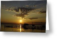 An Outer Banks Of North Carolina Sunset Greeting Card