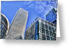 Canary Wharf London Greeting Card