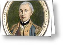 Marquis De Lafayette Greeting Card