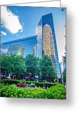 Skyline And City Streets Of Charlotte North Carolina Usa Greeting Card