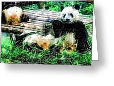 3722-panda -  Plein Air 1 Sl Greeting Card
