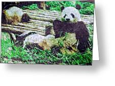 3722-panda -  Watercolor 2 Sl Greeting Card